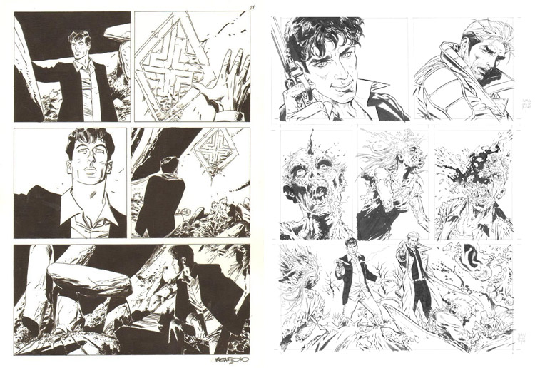 Dylan Dog comic art.