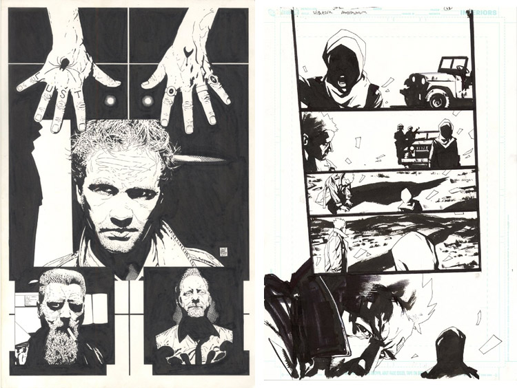 Hellblazer comic art.