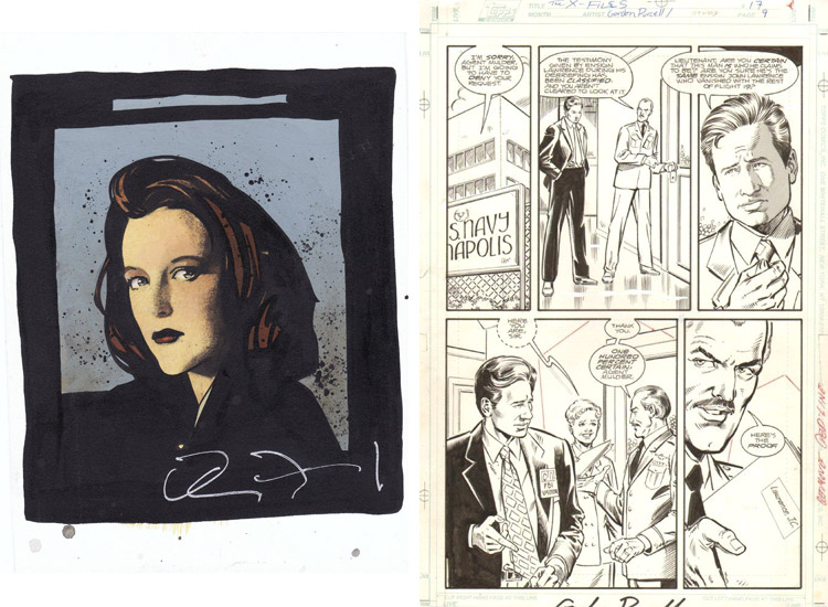 X-Files comic art.