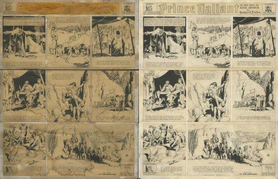 Konserwacja rysunku - Prince Valiant.
