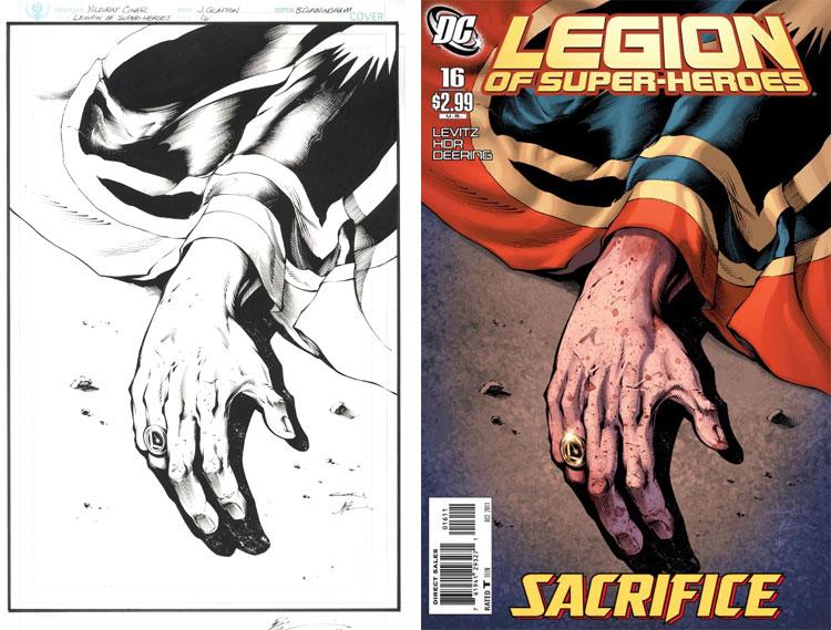 Yildiray Cinar (rysunek ołówkiem) Jonathan Glapion (tusz), Legion of Superheroes 16.