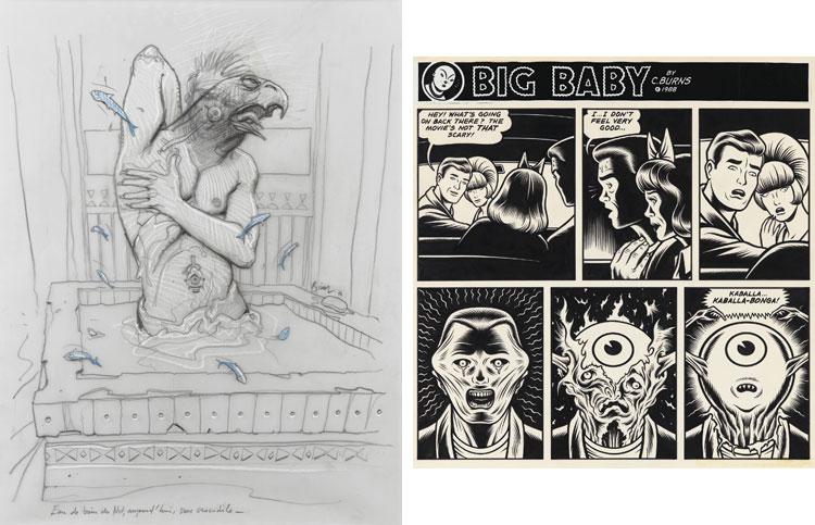 Wystawione na aukcji prace: Enki Bilala i Charlesa Burnsa.