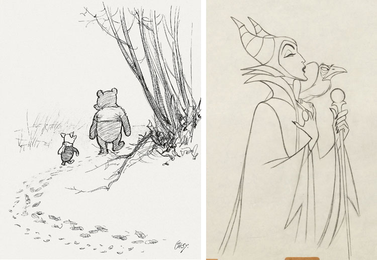 Pooh, Sotheby's & Maleficent, Heritage.