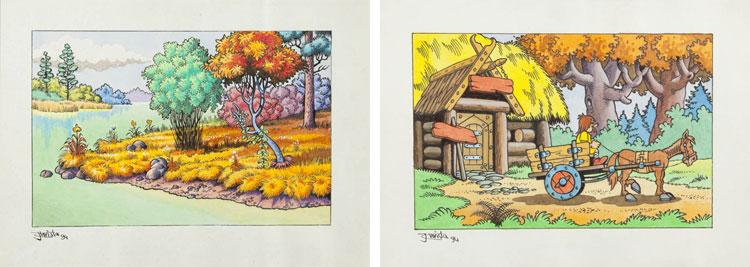Christa - Kajko i Kokosz - rysunki do gry.
