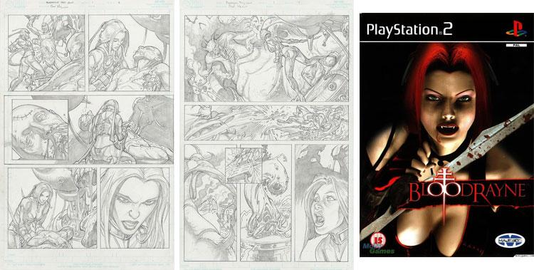 Bloodrayne - rysunki ołówkiem.