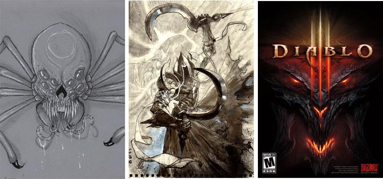 Diablo - rysunki.