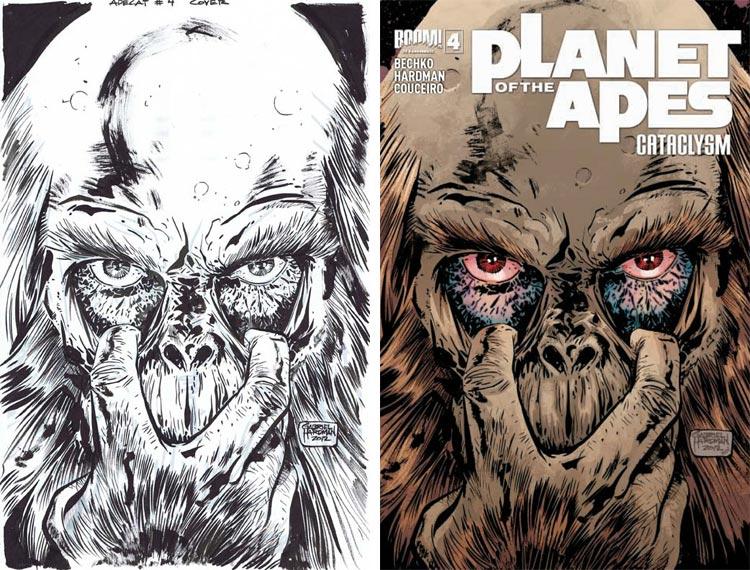 Gabriel Hardman, Planet Of The Apes: Cataclysm #4.