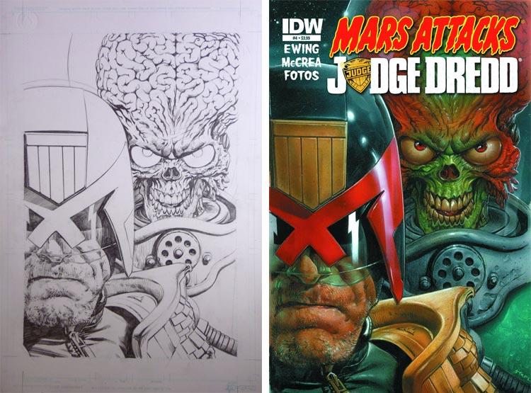 Greg Staples, Mars Attacks Judge Dredd #4.