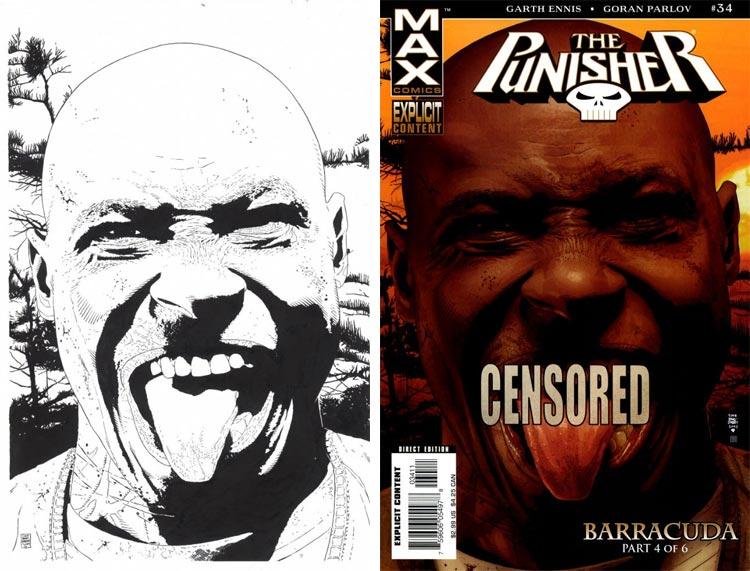 Tim Bradstreet, The Punisher #34.