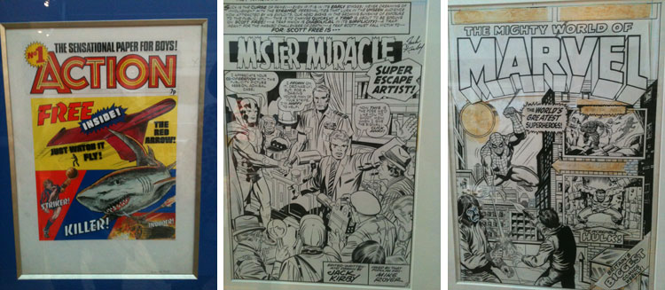 "Okładka ""Action #1""; Miracle Man - Jack Kirby; Spider-man cover."