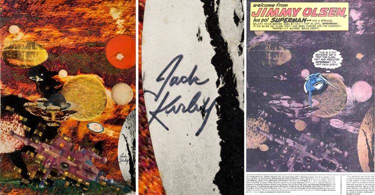Jack Kirby - kolaż.