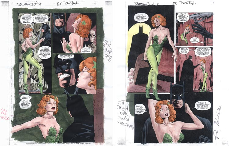 Pamela Rambo, Batman Shadow of the Bat - akwarele.