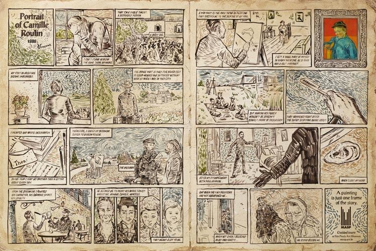 Vincent van Gogh, Portrait of Camille Roulin, comic.