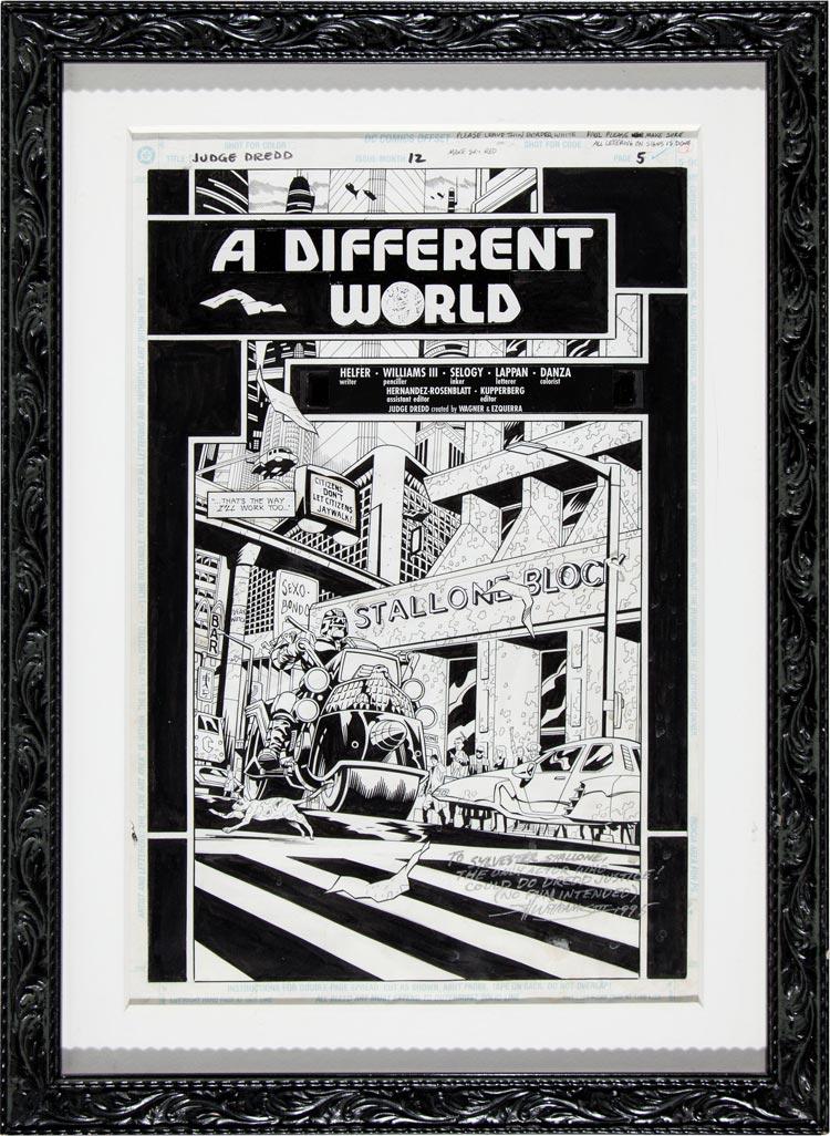 Z kolekcji Sylvestra Stallone - Judge Dredd.