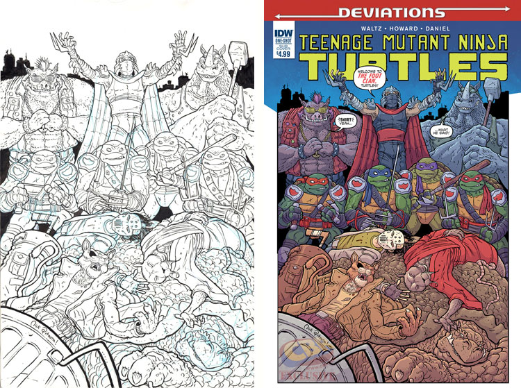 "EXCLUSIVE: Nick Pitarra's ""TMNT: Deviations"" variant cover."