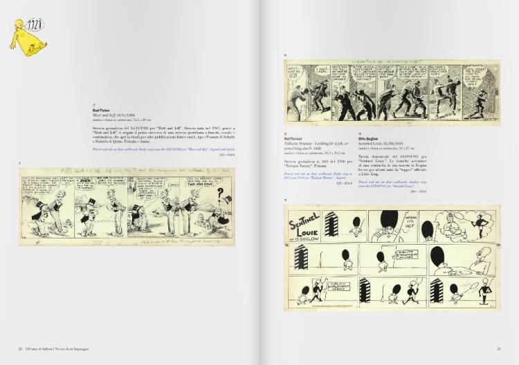 Auction catalog comic strip art.