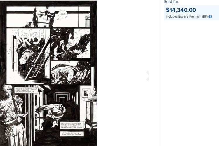 Mike Mignola, Hellboy - comic art - Heritage.